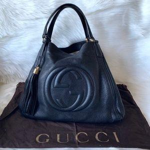 Authentic Gucci Large Hobo Soho Black Bag
